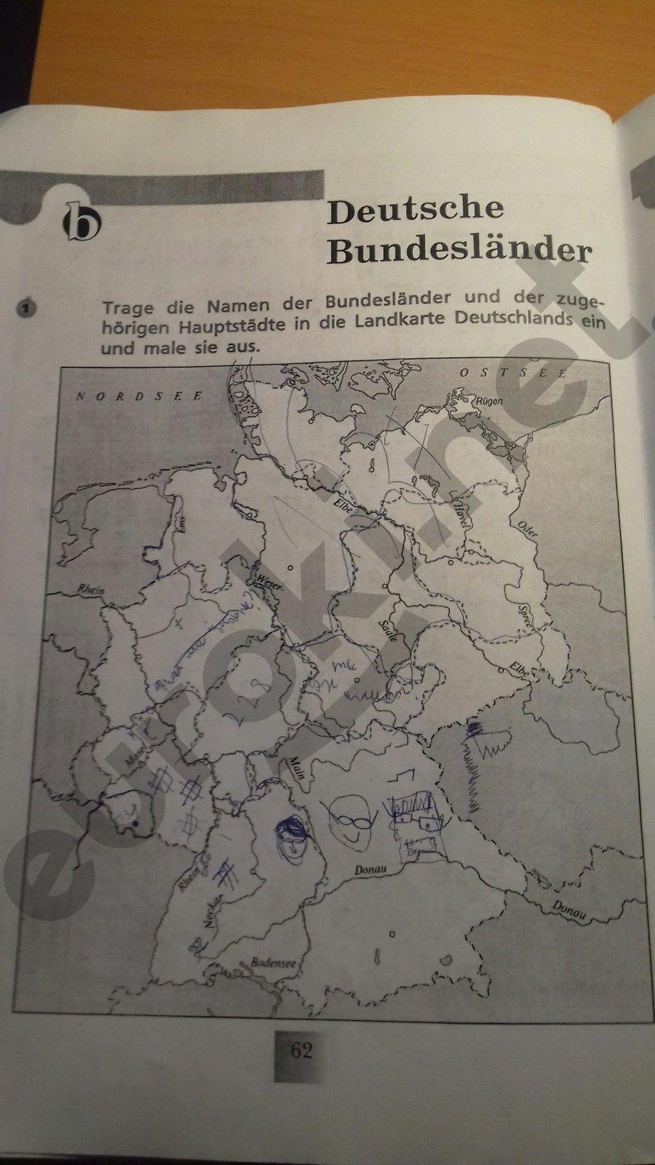 ГДЗ по немецкому языку 6 класс рабочая тетрадь Артемова. Задание: стр. 62