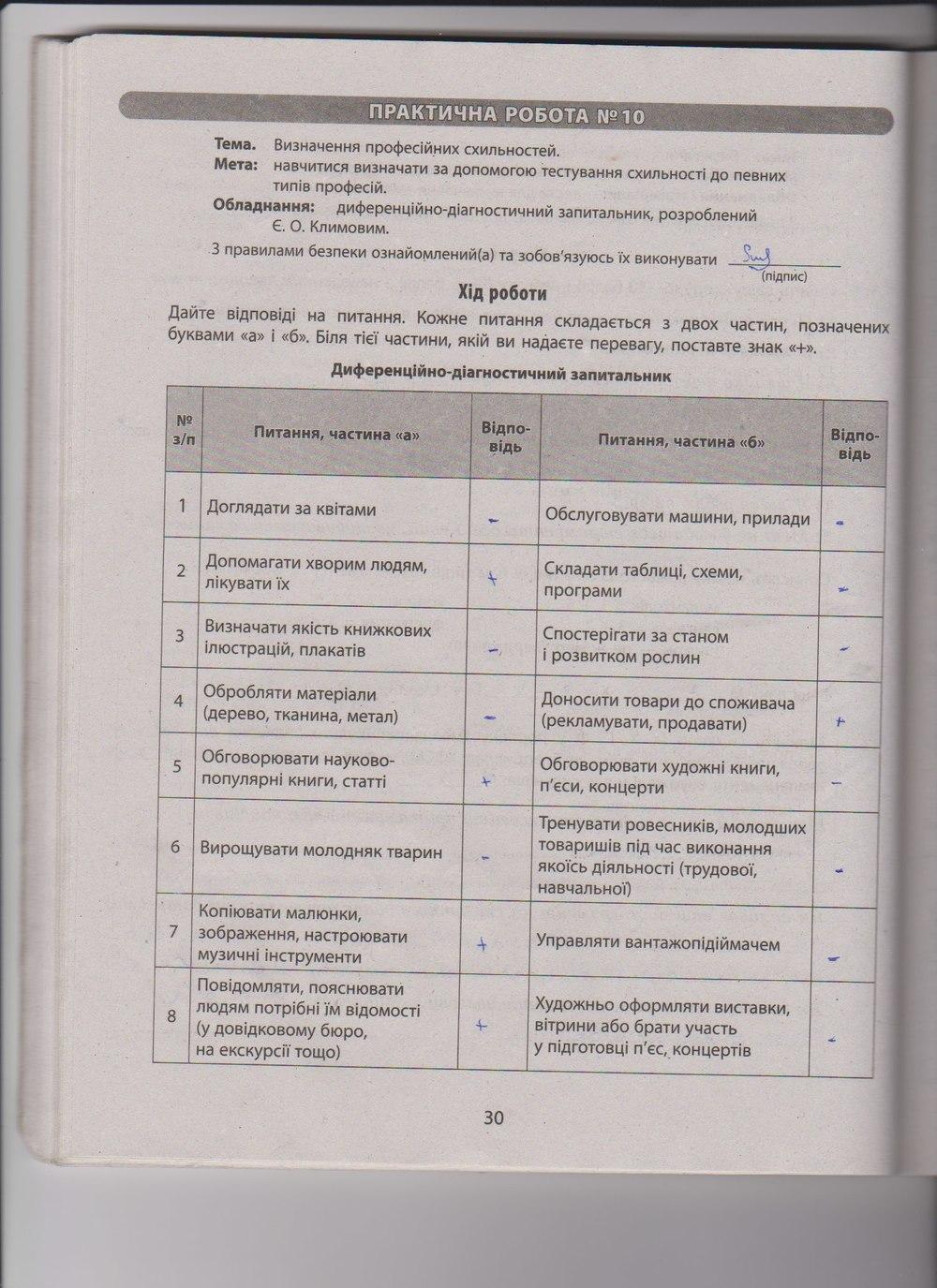 ГДЗ відповіді робочий зошит по биологии 9 класс. Задание: стр. 30