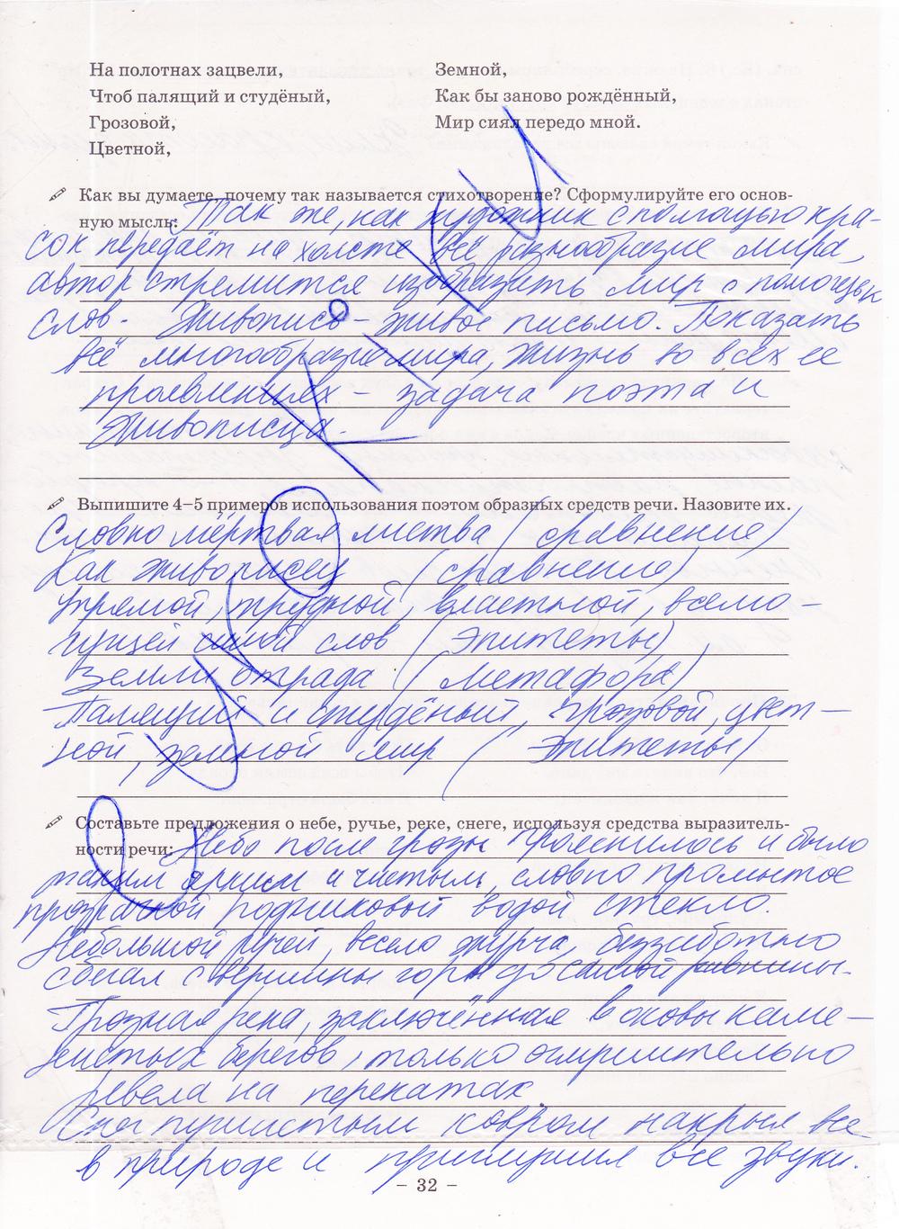 ГДЗ по русскому языку 8 класс рабочая тетрадь Богданова Часть 1, 2. Задание: стр. 32