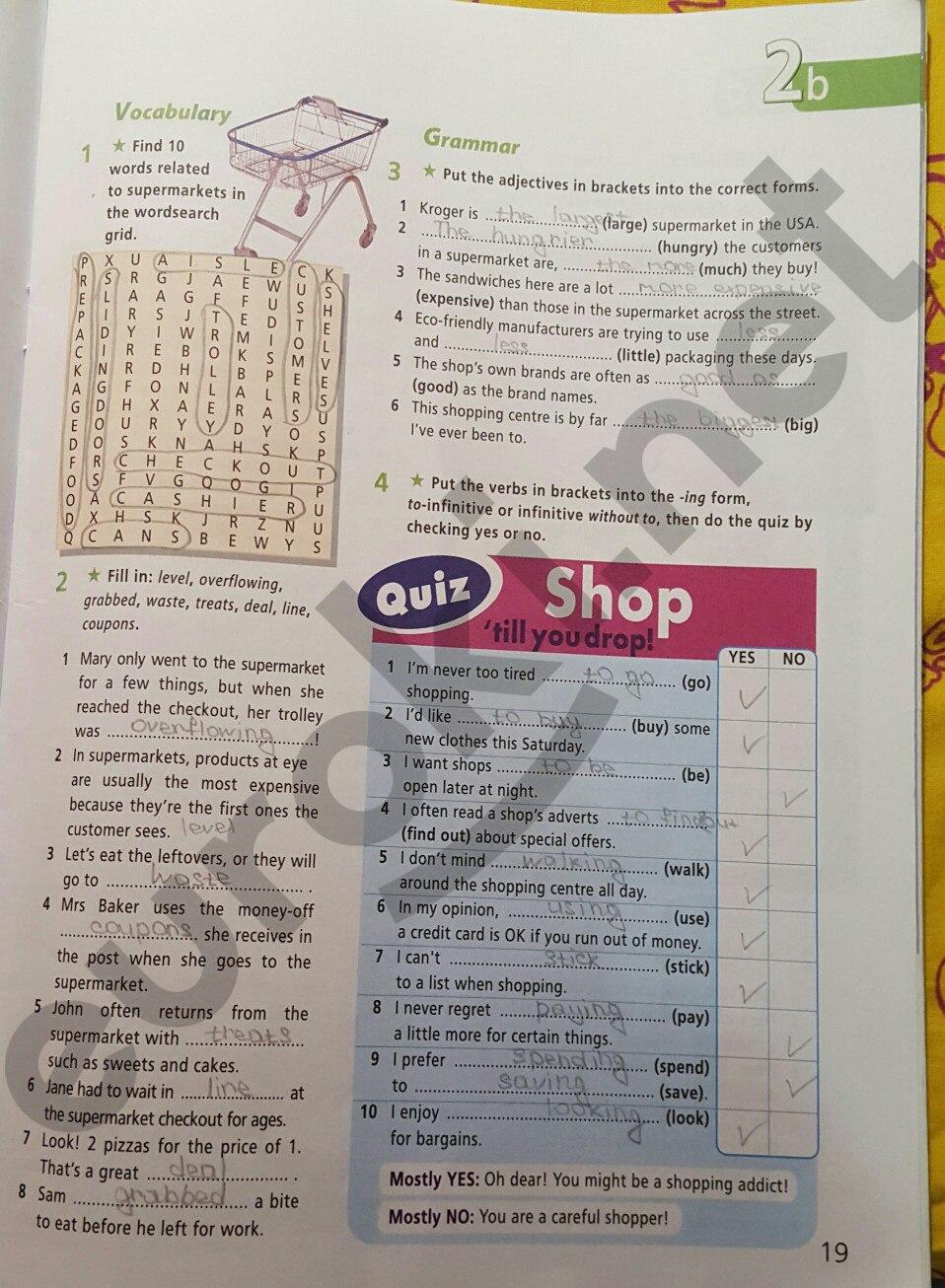 ГДЗ по английскому языку 8 класс рабочая тетрадь Баранова. Задание: стр. 19