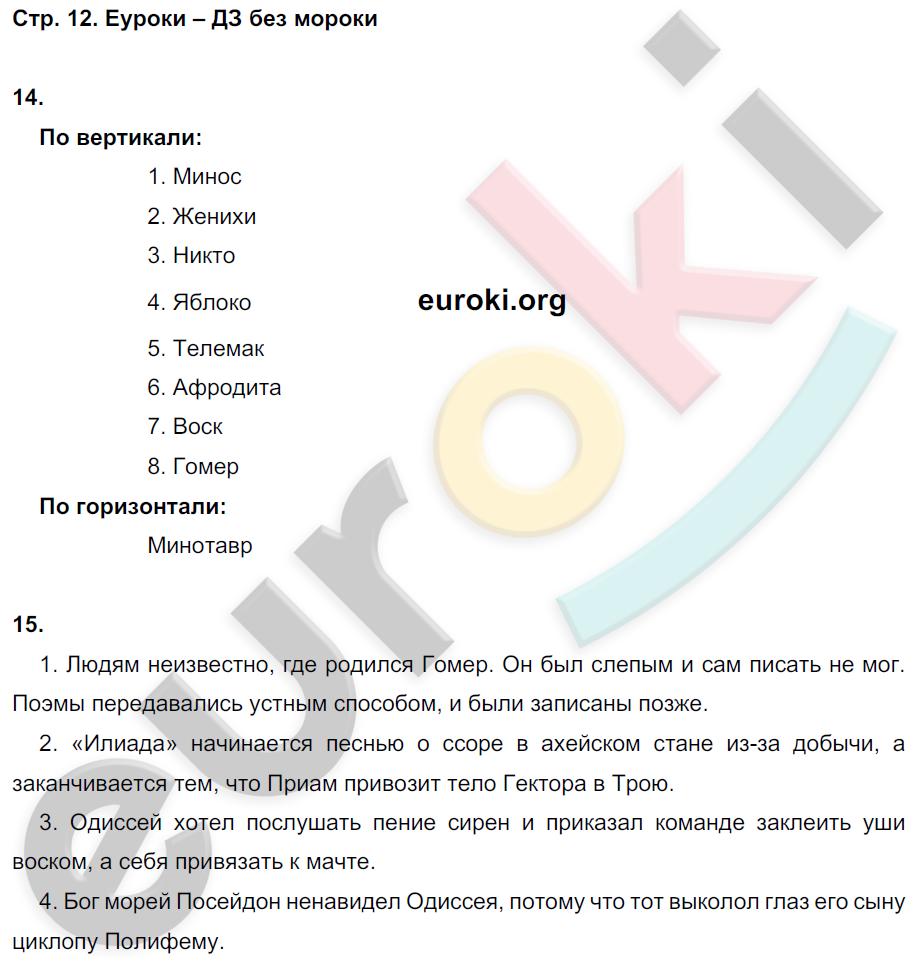ГДЗ по истории 5 класс рабочая тетрадь Годер Часть 1, 2. Задание: стр. 12