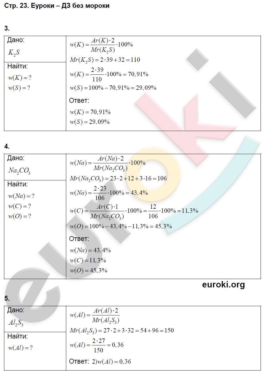 ГДЗ по химии 8 класс тетрадь тренажёр Гара. Задание: стр. 23