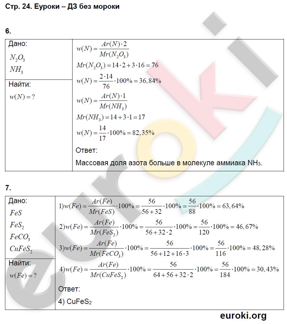 ГДЗ по химии 8 класс тетрадь тренажёр Гара. Задание: стр. 24