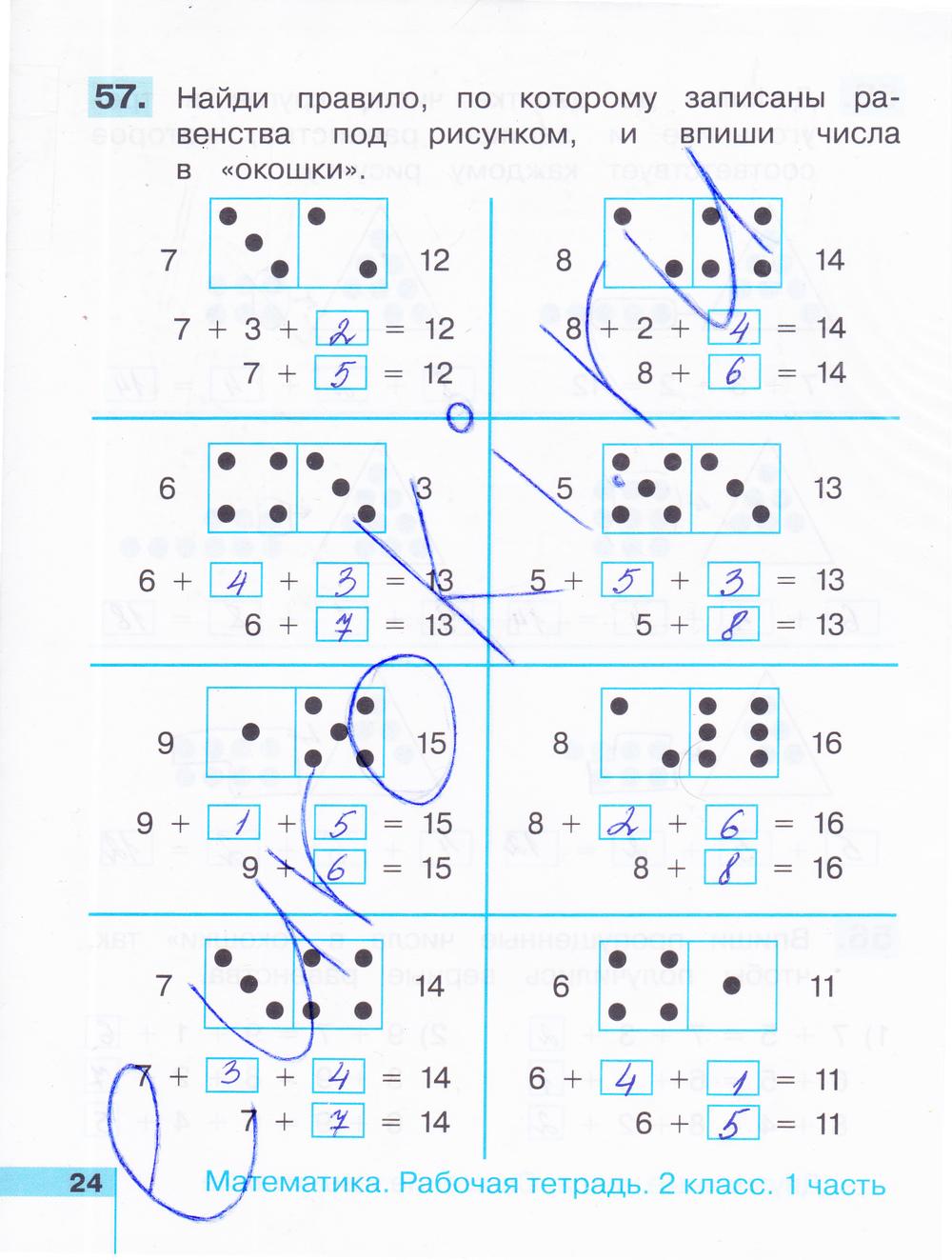 ГДЗ по математике 2 класс рабочая тетрадь Истомина Часть 1, 2. Задание: стр. 24