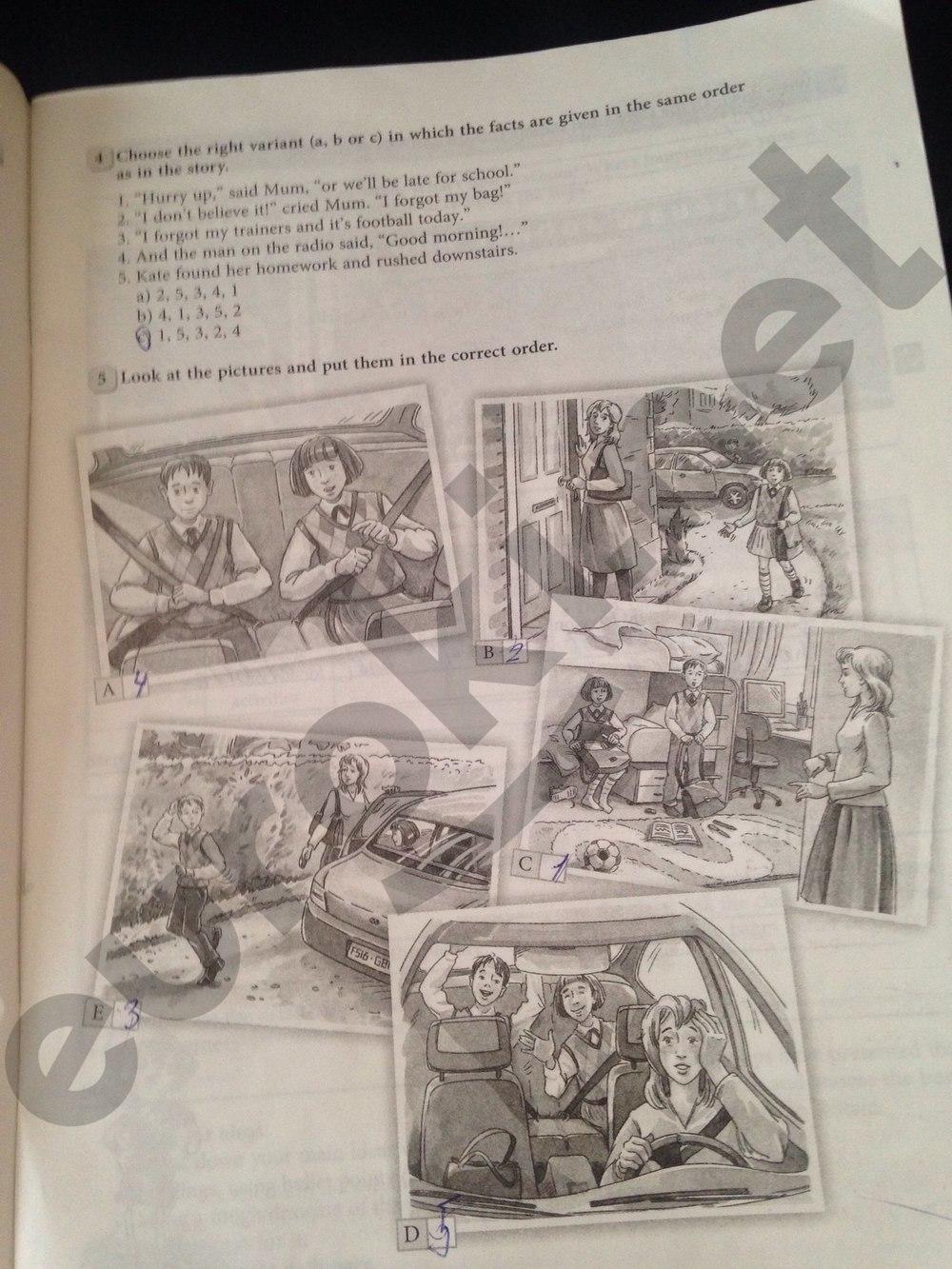 ГДЗ по английскому языку 5 класс рабочая тетрадь Биболетова. Задание: стр. 19