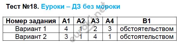 ГДЗ по русскому языку 7 класс контрольно-измерительные материалы Егорова. Задание: Тест 18