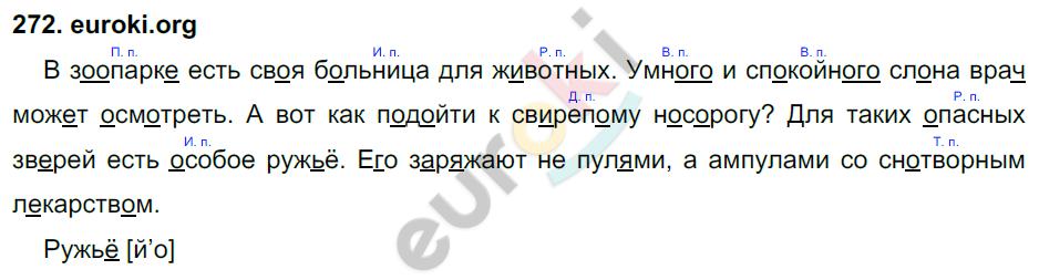 ГДЗ по русскому языку 4 класс Соловейчик, Кузьменко Часть 1, 2 Часть 1. Задание: 272