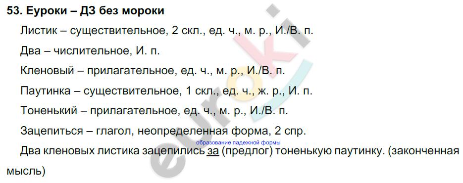 ГДЗ по русскому языку 4 класс Соловейчик, Кузьменко Часть 1, 2 Часть 1. Задание: 53