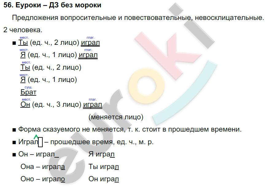ГДЗ по русскому языку 4 класс Соловейчик, Кузьменко Часть 1, 2 Часть 1. Задание: 56