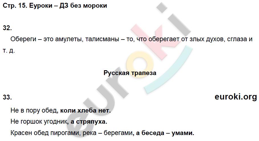 ГДЗ по окружающему миру 3 класс рабочая тетрадь Виноградова, Калинова Часть 1, 2. Задание: стр. 15