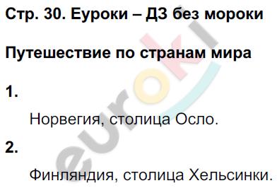 ГДЗ по окружающему миру 4 класс самостоятельные работы Чуракова, Трафимова. Задание: стр. 30