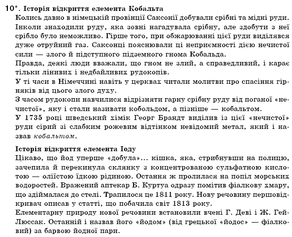 ГДЗ по химии 7 класс Н.М. Буринська Розділ І. Найважливіші хімічні поняття, § 5. Задание: 10