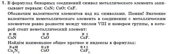 ГДЗ по химии 7 класс Г. Лашевская (для русских школ) § 12. Валентность. Задание: 1