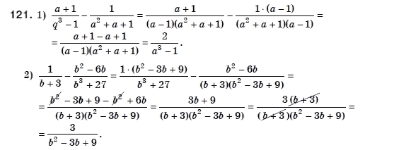 ГДЗ по алгебре 8 класс Мерзляк А., Полонський В., Якiр М.. Задание: 121
