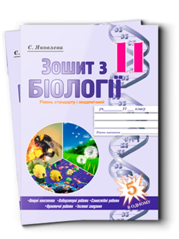 Робочий зошит з біології 11 клас Є. Яковлева