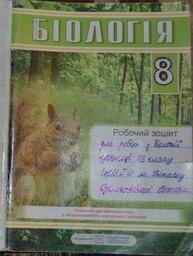 Робочий зошит з біології 8 клас Л. Архипчук, О. Микитюк, Л. Радчик, Г. Целюк